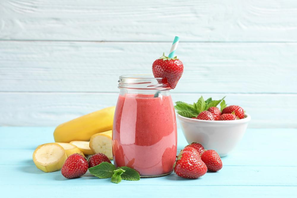 Banana Strawberry Breakfast Smoothie Recipe